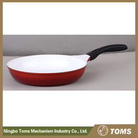 Kitchen supplies 28cm Aluminum fry pan with white ceramic coated