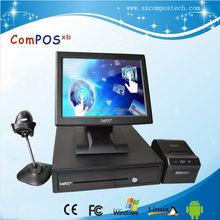 Touch Terminal Pos Solutions /all in one touch panel <strong>computer</strong> with customer display ,printer for register