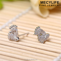 MECY LIFE cheap wholesale unique design silver foot print latest cute girls earrings