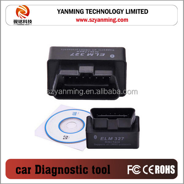 2016 Original high quality OBD2/OBDII scanner ELM 327 V2.1 car diagnostic interface scanner tool Super mini ELM327
