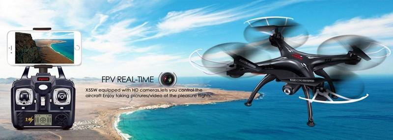Mais novo syma x5sw fpv drone com hd camera rc drone quadcopter fpv
