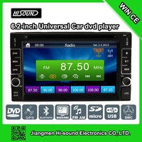 2 DIN high quality 6.2inch touch screen car dvd gps windows ce 6.0