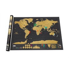 Upgrade Poster Map Deluxe Scratch Travel Constellations World Map 32x23 inch