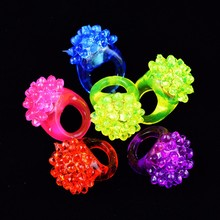 High quality jelly ring flashing light led bumpy jelly rings