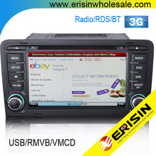 "Erisin ES7683A 7"" 2 Din Multimedia with GPS Car Audio System for A3"
