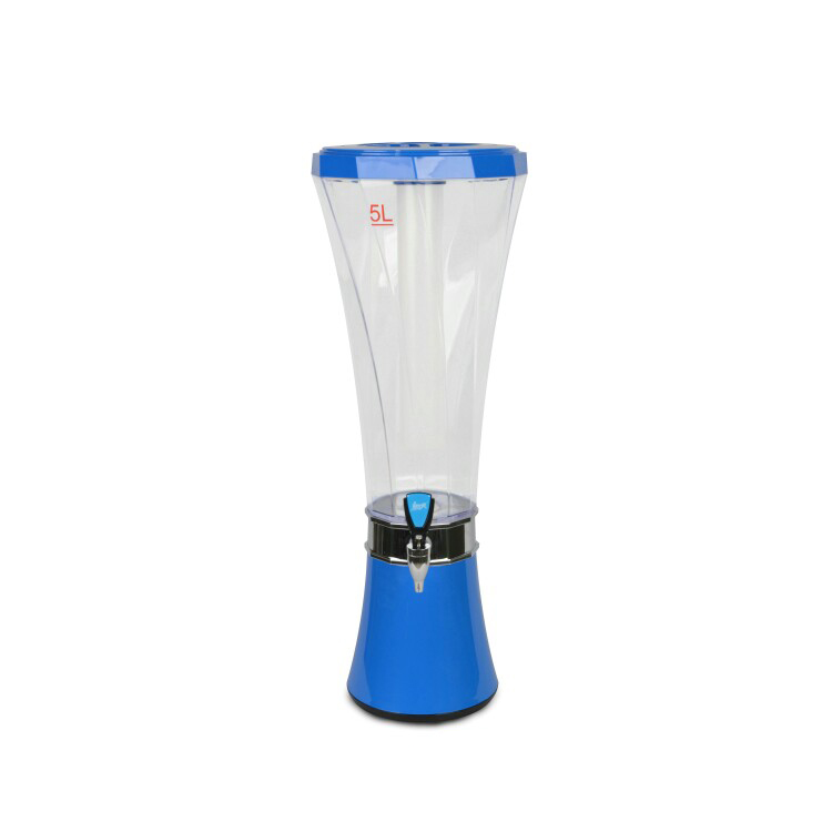 3L Cheap plastic beer tower or juice dispenser