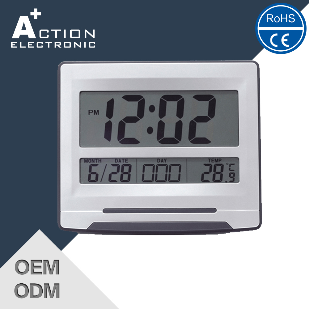 Custom calendar flip plastic led digital wall clock wholesale china