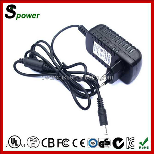 12V 2A CCTV Camera Power Supply 24W with Different Plug Type