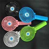 Fashinable portable foldable hand fan mini handheld fan desktop fan with usb cable intelligent control 3 speeds