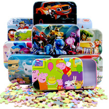 New!!!Intelligent Wooden Tin Box Puzzle Cartoon Jigsaw Puzzle For Child