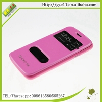 for tecno F5 leather mobile phone case wholesale price flip case