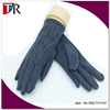 Fashion Crystal Decorated Suede Leather Gloves