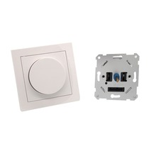 Stock EU Standard CE Lighting Push Rotary Dimmer LED Switch