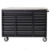 USA pro 28 Drawers 72 Inches Heavy duty aluminum top tray steel garage storage tool cabinet