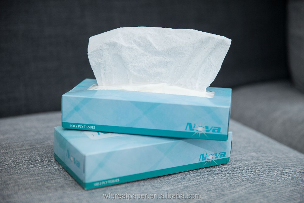 Hot selling pull-out 2ply 13gsm box drawing flexible sanitary facial tissue paper holder
