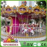 Family entertainment center deluxe carousel amusement rotating games amusement park rides