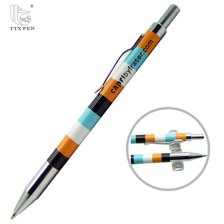 2018 Custom pattern heat transfer pens full color printed metal ball pen