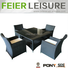 Modern outdoor living room furniture natural rattan and wicker table and chairs