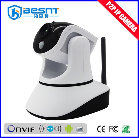 2016 new 1.0MP CMOS Sensor Support Iphone, 3G phone Control and Monitor PTZ wireless wifi IP Camera BS-IP27