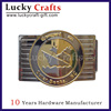 New product custom logo metal die casting military belt buckle for men