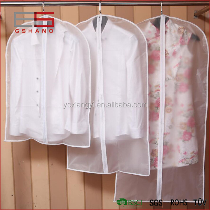 Zipper Transparent PEVA Girl's Dress Cover, Long Clear Shirt Shirt Blouse Suit Cover Garment Bag