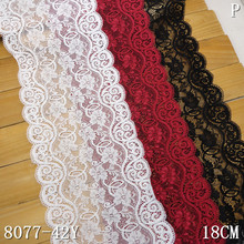 stretch lace manufacture for OEM 18cm clasical designer elastic lace