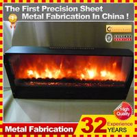 Modern electric fireplace Kindle indoor freestanding fireplace mantel customized