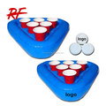 customized logo pvc inflatable floating beer pong rack /Swimming Pool Inflatable Beer Pong Game