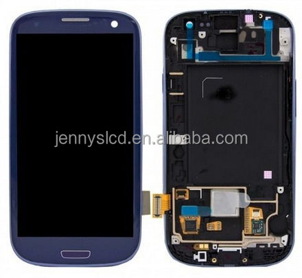 Cell Phone lcd for S3 I9300 LCD screen with digitizer assembly with frame