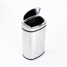 50l oval shape stainless steel waste bins with sensor for household