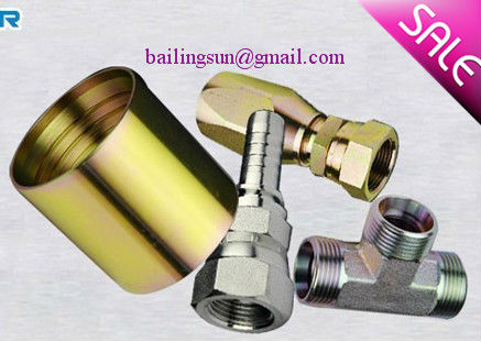 carbon steel hydraulic fitting ,hydraulic adapter ,hose end fitting yellow zinc plated tube fitting