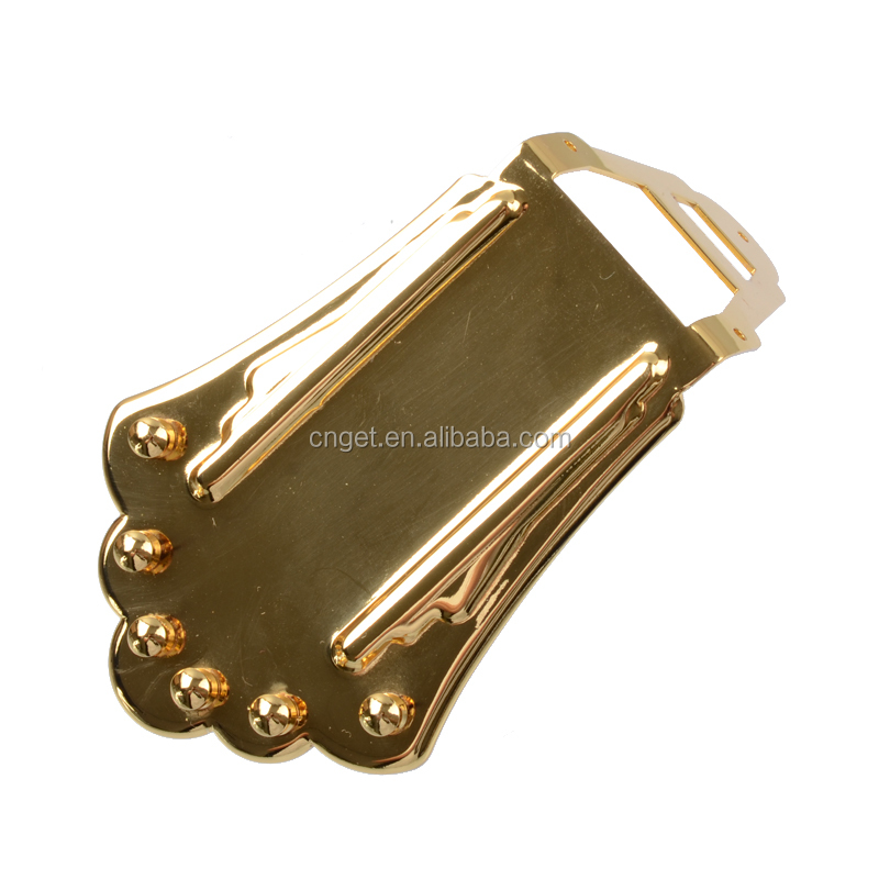 A Set Jazz Guitar Bridge for Hollow Semi Hollow Electric Guitar-Gold