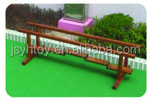 Thrilling swinging wood bridge outdoor park playground balance alone wood bridge made in china