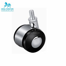 2 Inch Office Chair Caster Wheels Standard Stem Size with zinc alloy cover