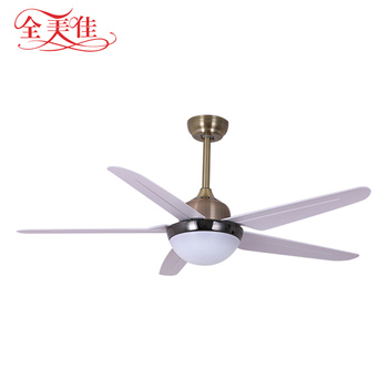 Zhongshan manufacture modern 52 inch 5 ABSB blades ceiling fan with LED light