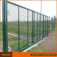 PVC coated decorative barrier fence,garden edging fence,welded wire fence mesh panel