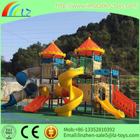 Hot sale big slide LZ-1667 commercial outdoor playground equipment