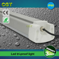 LED project light tri-proof lamp weatherproof tube light IP65 CE Rohs approved