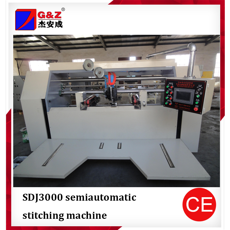 High Speed Semi-auto Corrugated Stitching Machinery carton packing stapling machine