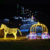 Illumiated Metal LED Horse Carriage Motif Light for Exterior Christmas Decoration