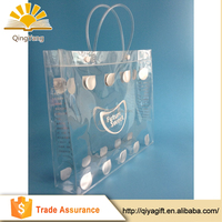 wholesale custom waterproof promotional shopping tote transparent clear pvc bag