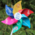 Widely use six leaves plastic yard pinwheel