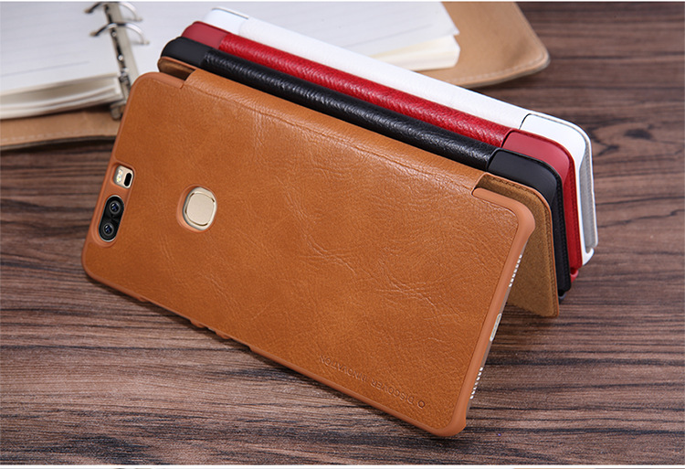 Nillkin Qin PU leather case for Huawei honor v8 flip cover