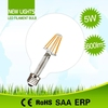 Professional LED lamps for line voltage PF>0.5 globe shape e26 6w filament led bulb