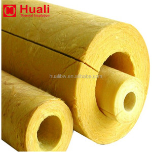 Glass wool tubing 48kg m3 50mm exhaust pipe cover insulation