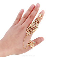 2016 Double fingers hollow finger ring 2016 fashion(SWTJU1132)