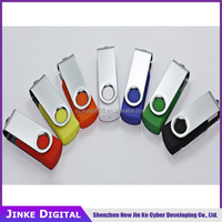Promotional Plastic Swivel USB Flash, Transparent plastic pen USB on sale drive