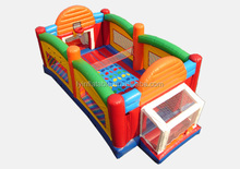 Inflatable sports combo 4 in 1 football, basketball, volleyball, twister,inflatable sports games 4 in 1