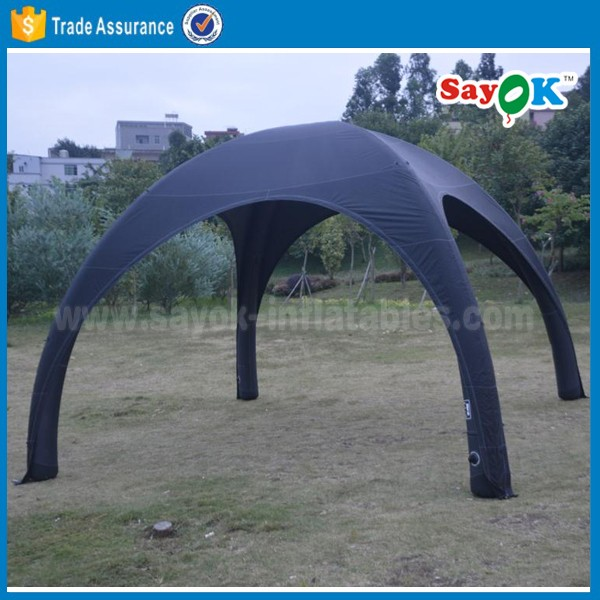 black geodesic inflatable sport dome tent inflatable spider tent hot sell