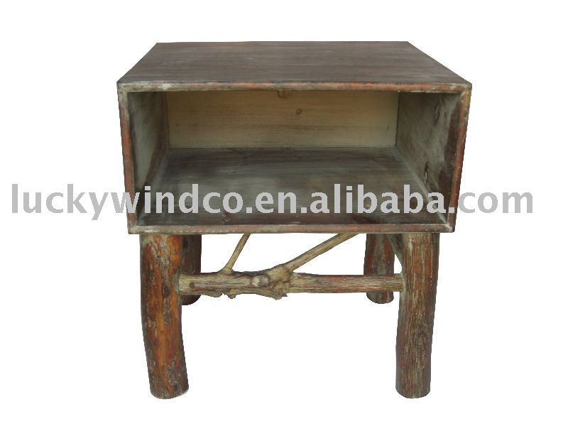 Floor Stand Nature Recycle Wood Vintage Decorative Handmade Cube Storage
